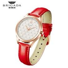 BRIGADA brand luxury Fashion Casual Genuine leather ladies watches diamond quartz watch relojes mujer women watch Girl Dress