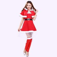 дешево!  4шт рождество платье зима женщины снеговик сексуальная лолита красный ну вечеринку косплей рождеств