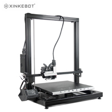 цена на 2019 Xinkebot Orca 2 Cygnus High Quality Large 3D Printer 400x400x500mm Printing Size Dual Extruder Aluminum Heat Bed with Cover