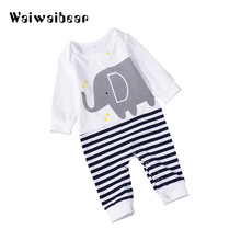 Autumn Newborn Baby Rompers Infant Long-Sleeved  Hot Sale Jumpsuit Clothes for Boys and Girls