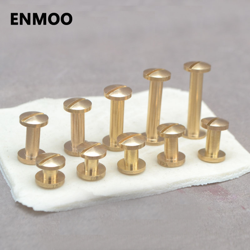 4 5 6 7 8 10 12 15 18 20mm Solid Brass Chicago Screw Nail Stud