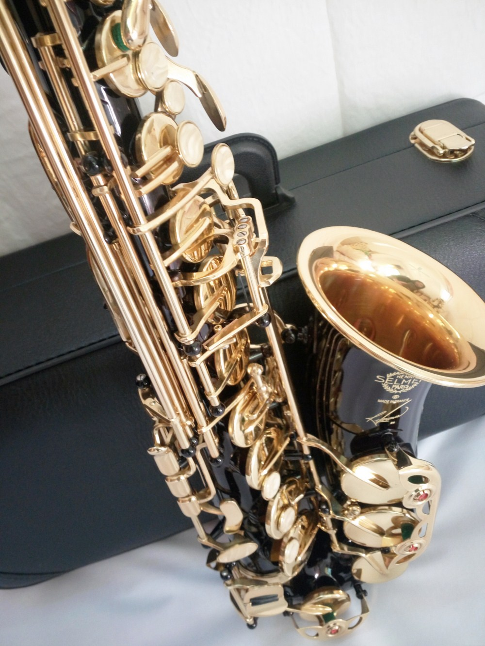 Saxophone Alto New High Quality  E flat France Selmer 54 alto saxophone Biack Nickel Musical Instruments Professional playing france selmer 54 e flat alto saxophone instruments matt black nickel and gold professional performance