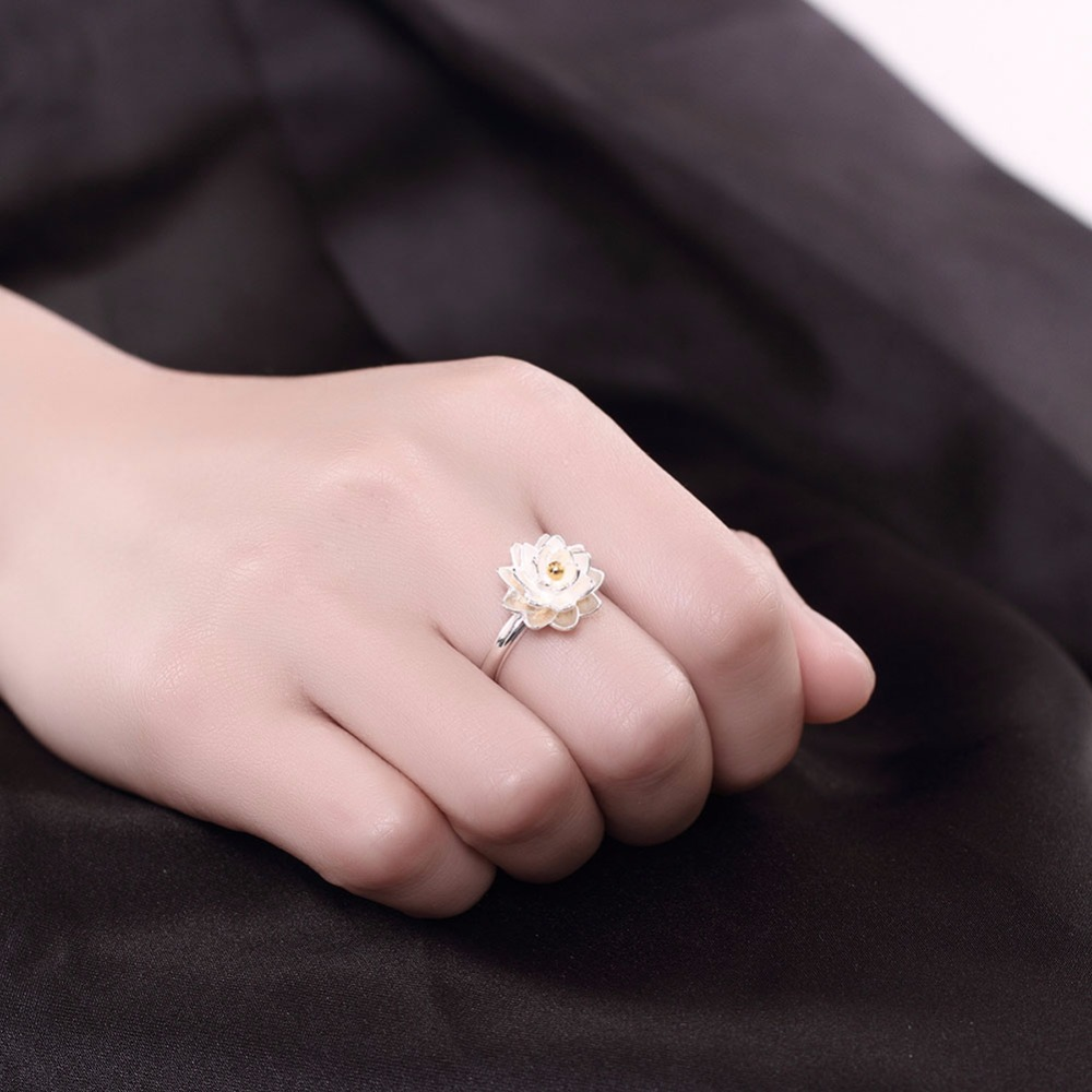Visisap Little Daisy open ring Solid 925 Sterling Silver Jewelry ...