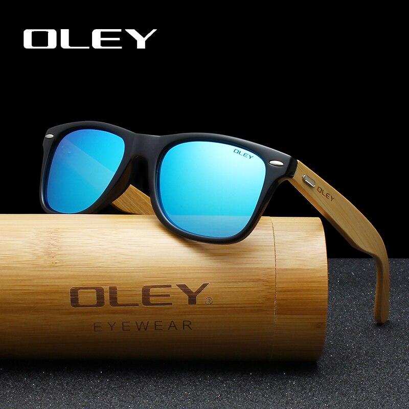 OLEY Marke Bambus Bein Polarisierte Sonnenbrille männer Klassischen Quadratischen goggle Fashion Retro Weibliche sonnenbrille Anpassbare logo YZ2140