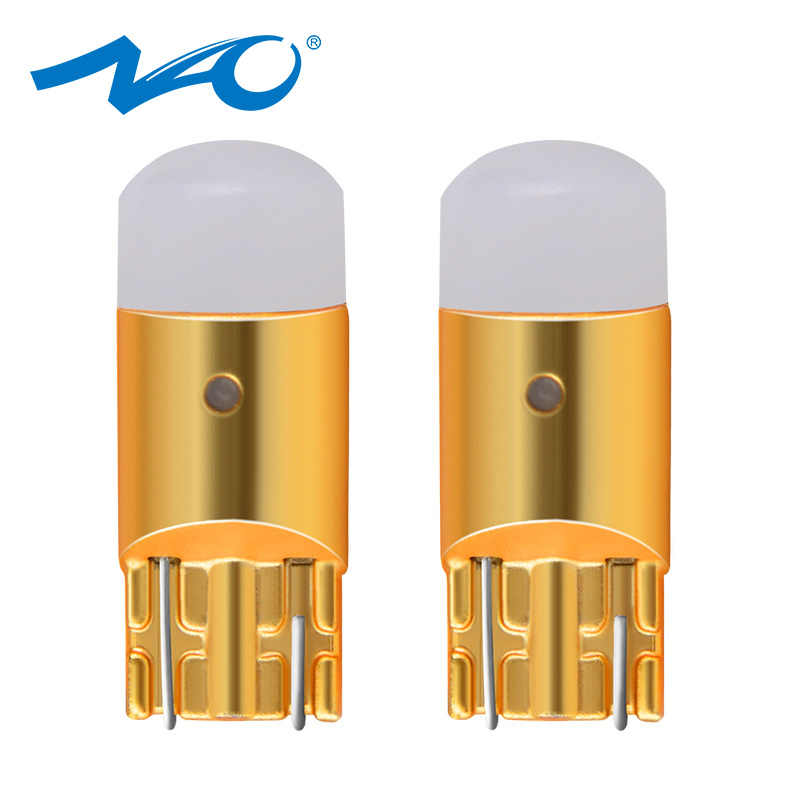 NAO 2x t10 led w5w LED Bulb Car COB DRL 3030 SMD 194 168 Clearance Lights Reading Interior Lamp 12V 6000k White Crystal Blue