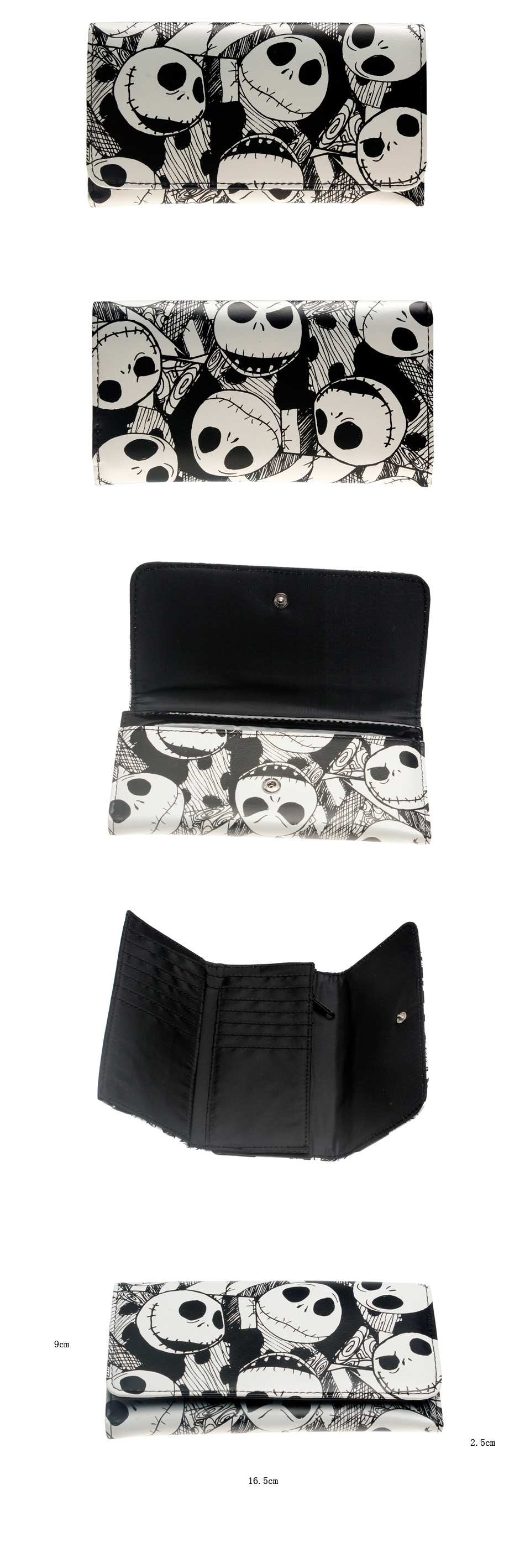 The Nightmare Before Christmas Jack Skellington Wallet DFT-6010 | eBay