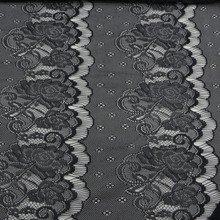 1Yard 56cm Wide Delicate Black Antique Eyelash high quality Lace Trim DIY Sewing Applique Costume design Free Shipping