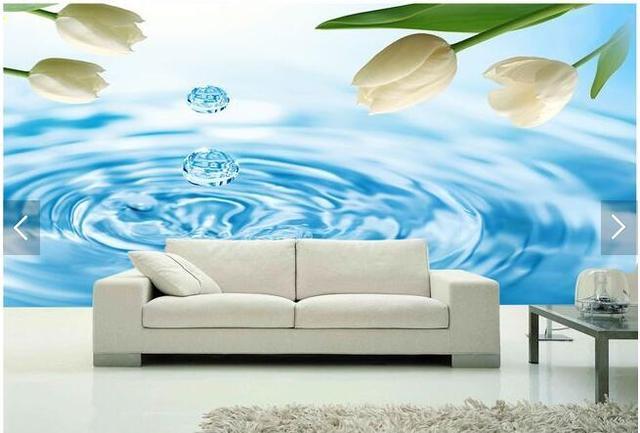 3d Large Murals Modern Minimalist Living Room TV Background Wallpaper Wall Covering Bedroom Studio Tulip