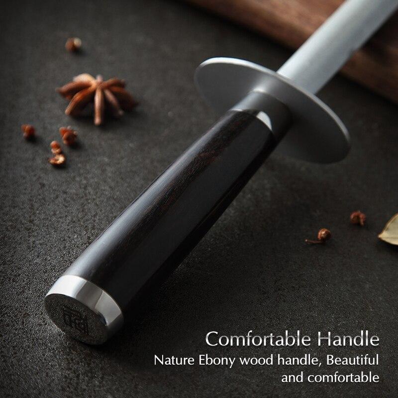 Image 5 - XINZUO Knife Sharpener Rod Kitchen Accessorie High Carbon  Stainless Steel Sharpener Stick Knife Grinder Rosewood or Ebony  HandleSharpeners