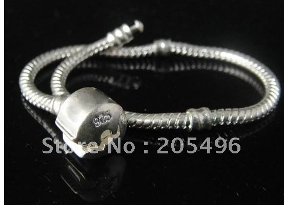jewelry chains , 925 sterling silver plate snake chain bracelet , free shipping , best selling