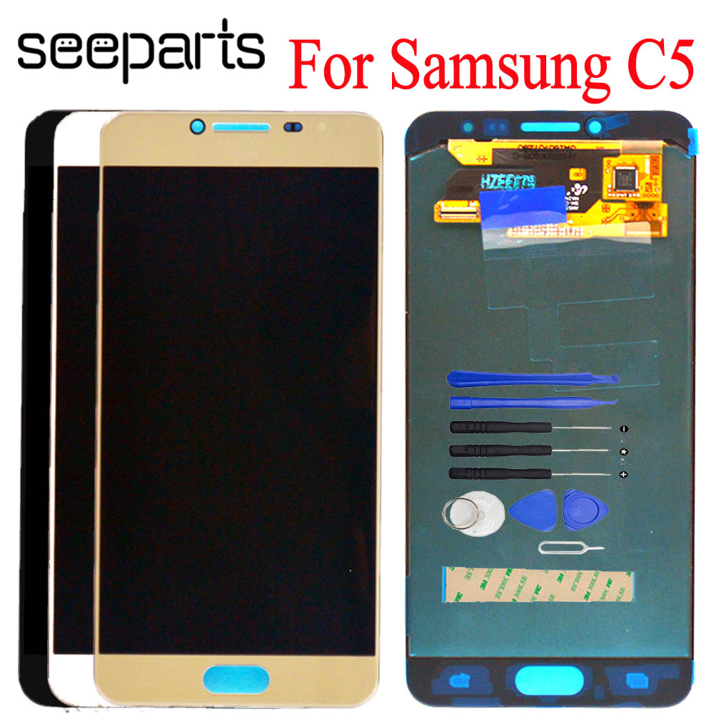 """For SAMSUNG GALAXY C5 C5000 LCD Display Touch Screen Digitizer Assembly Replacement For 5.2"""" SAMSUNG Galaxy C5 LCD Display"""