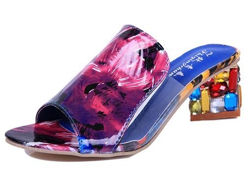 Women Sandals 2016 Ladies Summer Slippers Shoes Women high Heels Sandals Fashion Rhinestone summer shoes new  ALF19