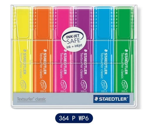STAEDTLER 364 PWP6 Six-color NEON Rainbow Highlights Highlighters set Quick-drying waterproof Office & School Supplies термопот polaris pwp 4012d