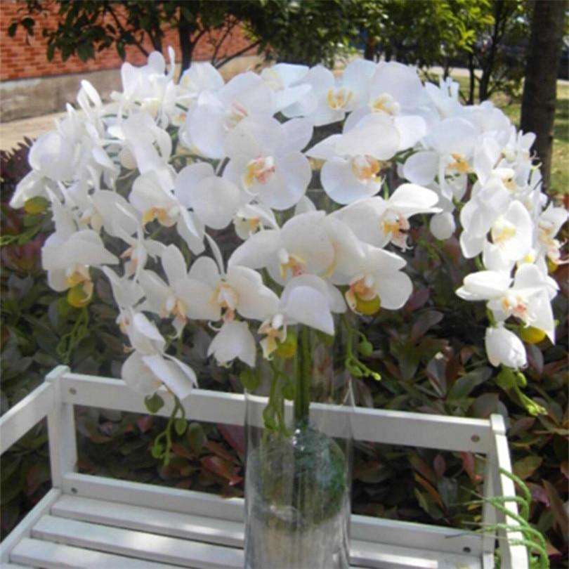 6p tegelik puudutus orhideed liblikas Phalaenopsis valge / fukseesia - Pühad ja peod - Foto 5