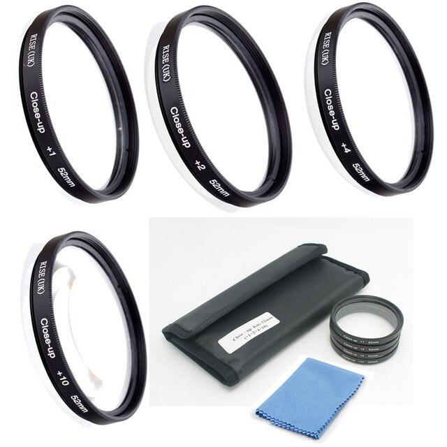 Мульти-размер 49-77 мм + 1 + 2 + 4 + 10 Макро Макро Аксессуары комплект 4 шт. для Объективов с Чехол и ткань чистки Объектива для ЗЕРКАЛЬНЫХ камер