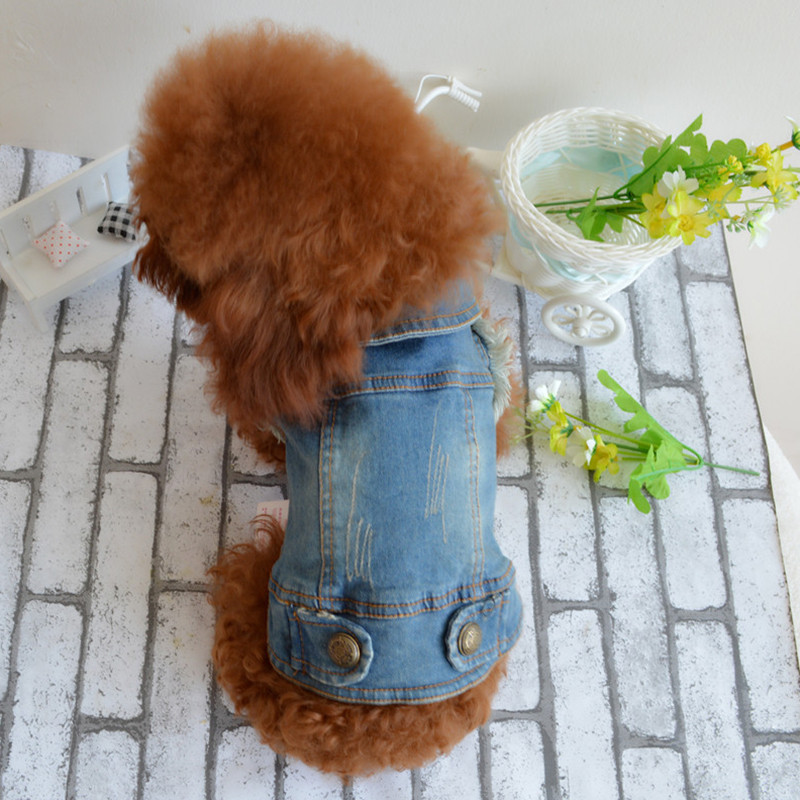 Spring/Summer Retro Graffiti Cowboy Vest Pet Clothing Dog Suit Cat Skirt Cute Puppy Clothes Apparel Coat Size XS-XL