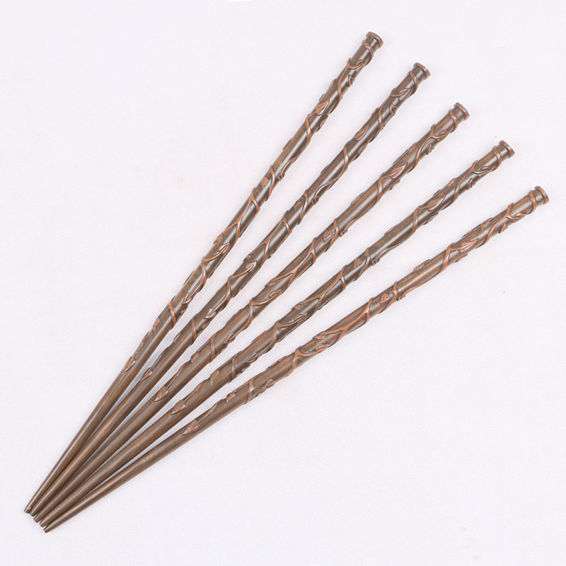 Harry Moive Metal Iron Core Magic Wands Colsplay Fleur Dumbledore Hermione Snape Ron Voldemort Magical Wand Kid Toys No Box