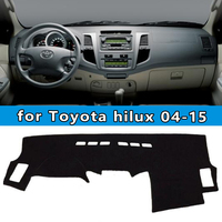 dashmats car styling accessories dashboard cover for toyota hilux sw4 vigo pick up 2004 2005 2006 2007 2008 2009 12 2013 2015
