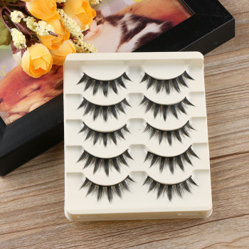 2020 NEW 5 Pairs Japanese Serious Makeup False Eyelashes Long Thick Eye Lash Extension Fashion Beauty Tools 1