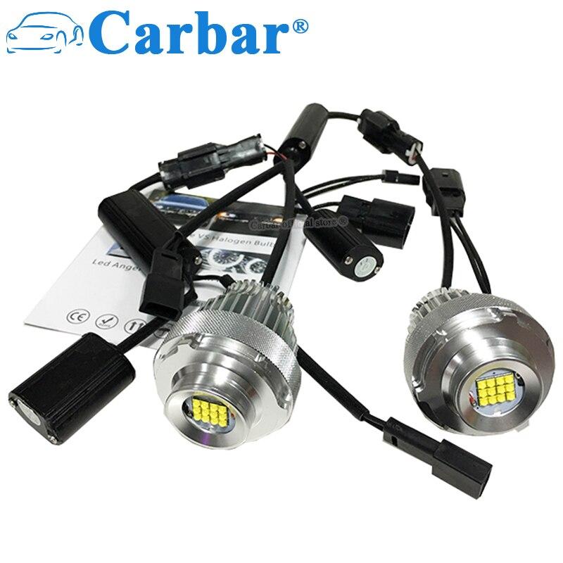 Carbar 2 pièces 60 W indicateur LED ange oeil Halo anneau ampoule pour BMW E60 E61 LCI 2008-2010 an halogène garniture blanc Canbus sans erreur