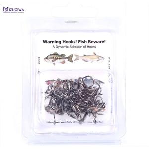 Image 3 - MIZUGIWAFree Shipping Fishing Hook 100pc/Lot 2/4/6/8/10/12# High Carbon Steel Treble Hooks Fishing Tackle Black