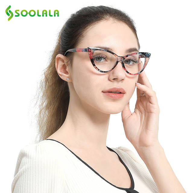 e46fe855f32a SOOLALA Reading Glasses Women Cat Eye Glasses Full Frame Eyeglasses +0.5  0.75 1.0 1.25 1.5 1.75 2.0 2.5 2.75 3.0 3.5 4.0 4.5 5.0-in Reading Glasses  from ...