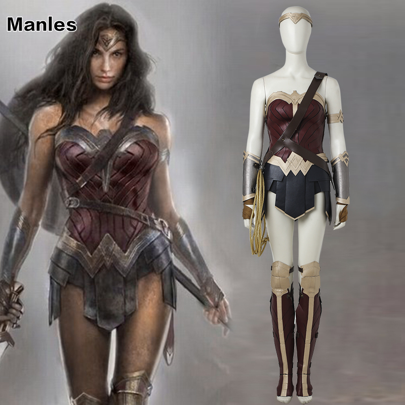 Wonder Woman Diana Prince Cosplay Costume Justice League Cosplay Batman v Superman Halloween Uniforme Costume Party Custom Made
