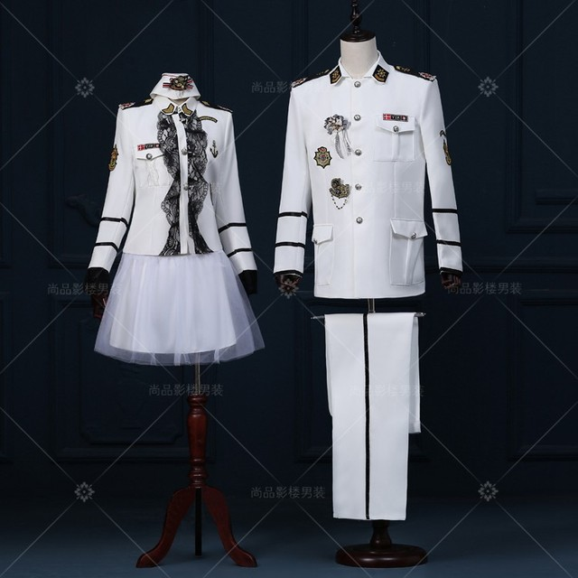 ( jacket +pants )male costume A couple of photo studio photos and theatrical costumes in the Navy Dress band uniform sailor suit