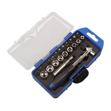 цена на 23-piece sleeve head set / quick wrench ratchet screwdriver screwdriver set long connecting rod set