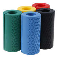 1 mancuernas gruesas, agarres de mancuerna, tirador de barra, soporte de levantamiento de pesas, almohadilla protectora antideslizante de silicona para la construcción del cuerpo