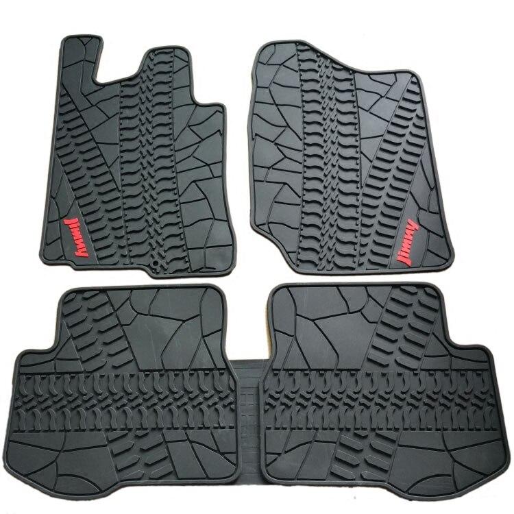 special free shipping no odor rubber waterproof rugs non slip easy clean latex car floor mats for SUZUKI/Jimny Vitara ALIVIO