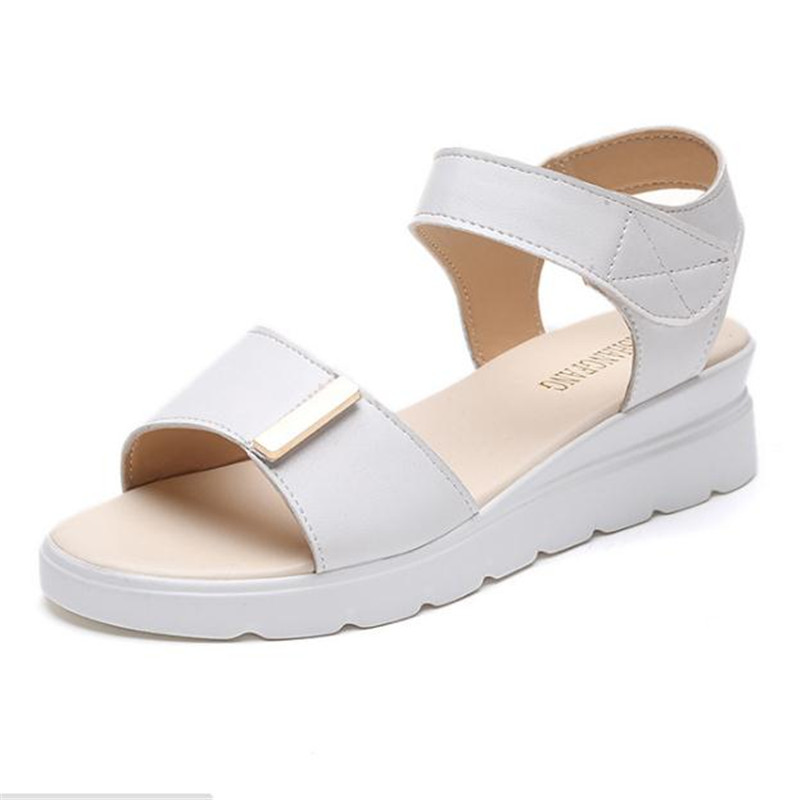 New hot Summer shoes woman Hot Selling sandals women peep-toe flat Shoes Roman sandals Women sandals sandalias mujer sandalias women shoes summer women sandals 2017 peep toe gold silver roman sandals shoes platform brand creepers woman sandalias size 43