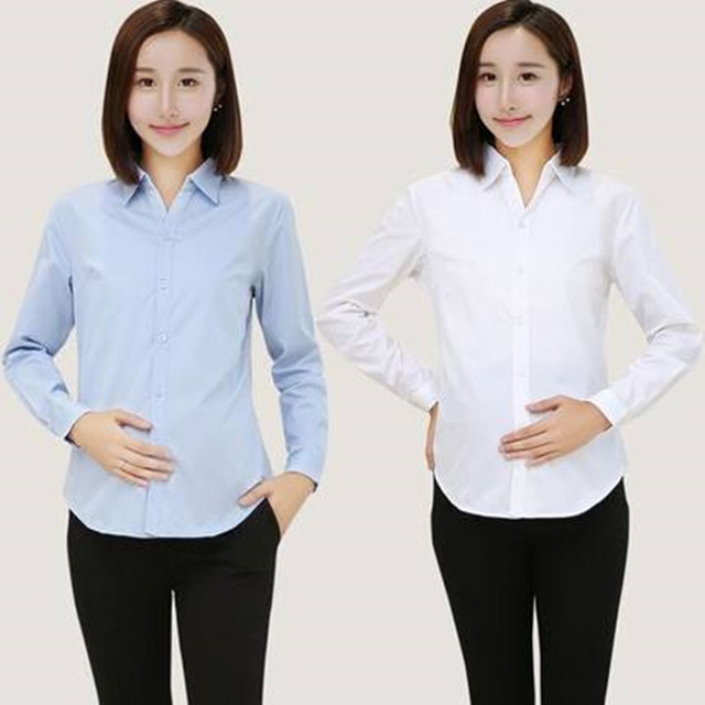8f7be9a6d4c New Maternity Blouses OL Style Cotton Shirt for Pregnant Women Maternity  Formal Clothes Pregnancy Maternity Business Blouses