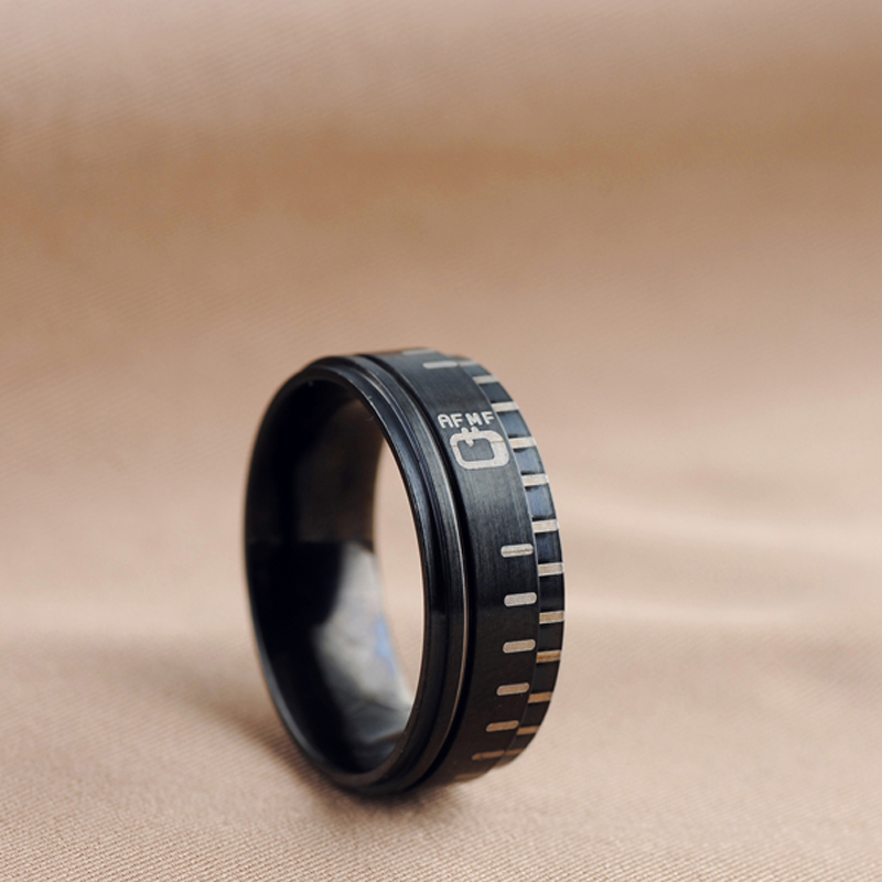 Top Quality Fashion SLR Camera Lens Rings For Photographers Fans Men Women Replica Designer Fine Jewelry Birthday Gift drop ship