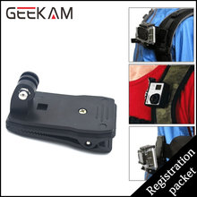 GEEKAM Go pro Accessories 360 Degree Rotary Backpack Hat Clip Clamp Clips Mount For SJ4000 SJ5000 Action Camera GoproHD Herp 3 4