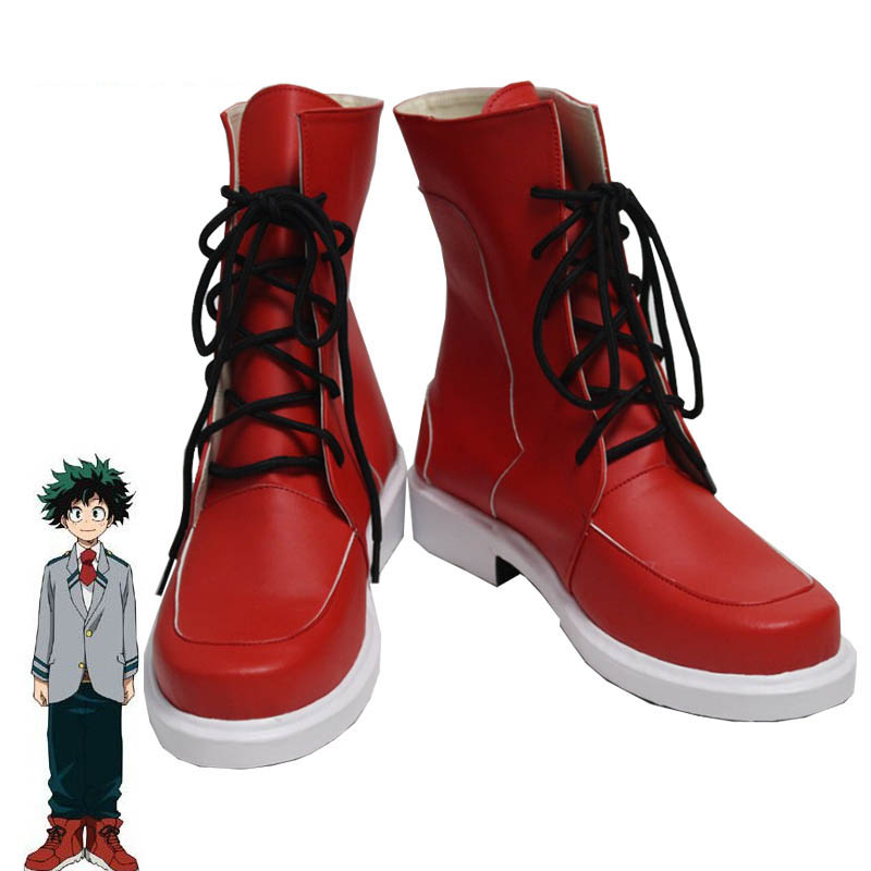 Coshome Boku No Hero Academia Midoriya All Might Shoto Todoroki Bakugou Cosplay Shoes My Hero Academia Boots (11)