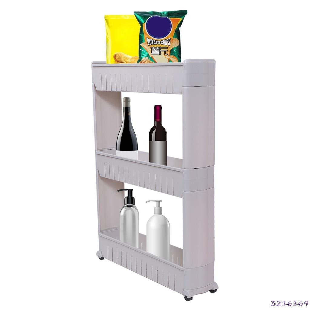 Gastfreundlich Mehrzweck Regal Mit Abnehmbaren Rädern Riss Rack Lagerung Organizer Für Bad Küche Badezimmerarmaturen