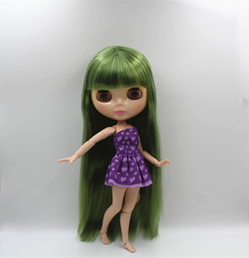 Free Shipping BJD joint RBL-373J DIY Nude Blyth doll birthday gift for girl 4 colour big eyes dolls with beautiful Hair cute toy free shipping nude blyth doll brown gold hair big eye doll fashion doll suitable for diy change bjd for girl s gift
