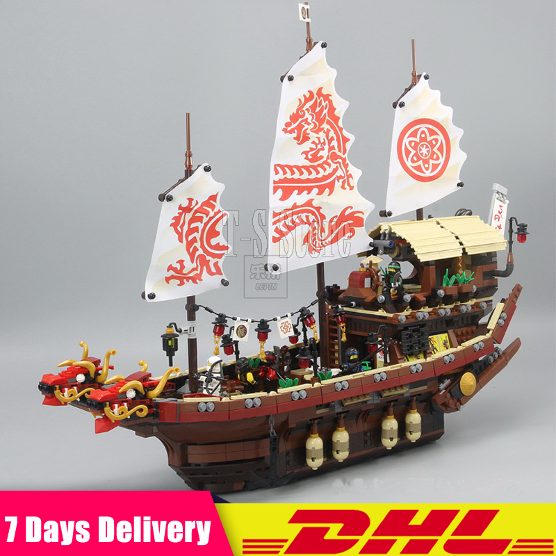 DHL IN Stock LEPIN 06057 2455pcs Ninja Final Fight Of Destiny's Bounty Ship Building Blocks Bricks Set DIY Toys Fit for 70618 dhl new lepin 06039 1351pcs ninja samurai x desert cave chaos nya lloyd pythor building bricks blocks toys compatible 70596