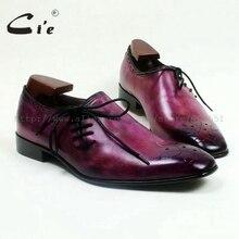 Cie/Повседневные Дышащие мужские туфли на плоской подошве с квадратным носком из натуральной телячьей кожи ручной работы фиолетовые туфли на шнуровке, Раскрашенные вручную OX517