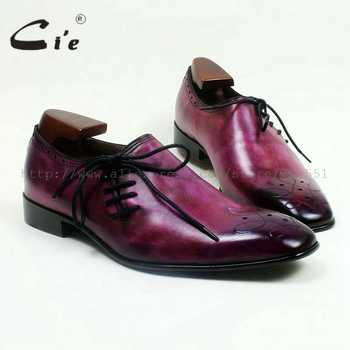 cie Square Toe Genuine Calf Leather Outsole Breathable Custom Handmade Men's Casual Flats Shoe Lace-Up Hand-Painted Purple OX517 - DISCOUNT ITEM  0% OFF All Category