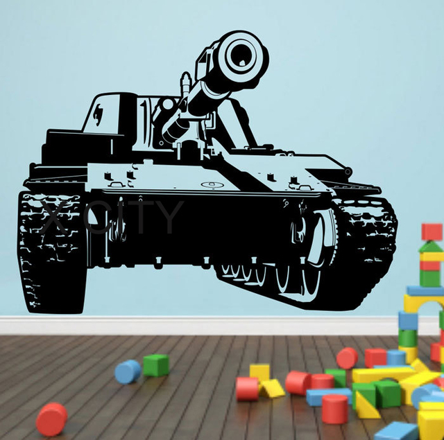 Military Army Tank Wall Art Vinyl Sticker Decal Nursery Decor Living Room Bedroom Home Interior Office  sc 1 st  AliExpress.com & Military Army Tank Wall Art Vinyl Sticker Decal Nursery Decor Living ...