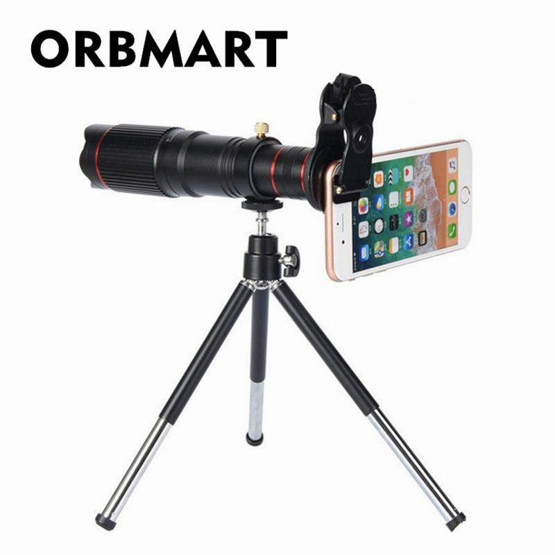 ORBMART Universal Clip Halter 22X4 Karat HD Fixfokus Tele Teleskop Smartphone Handy Linse Mit Sammelbeutel
