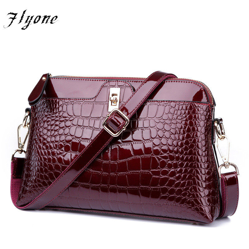 Brand Women Handbags Flyone Crocodile Leather Fashion shopper tote bag  Female luxurious shoulder bags as Gift for girl or women сумка через плечо women bag ab961 bling shopper 2015