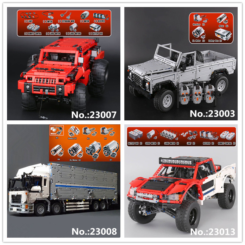 LEPIN 23003 Wild off-road vehicles 23007 The Marauder 23008 MOC truck 23013 Remote-Control Off-road Car Building Block Toys