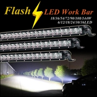 Led work bar flash warning day light Police Emergency light 12v Car truck beacon strobe light Autos DRL Caution safety lamp