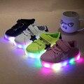 Детская обувь с легкими 2017 осень детские мальчики девочки свет обувь chaussure enfant дети мода дышащая мальчики кроссовки
