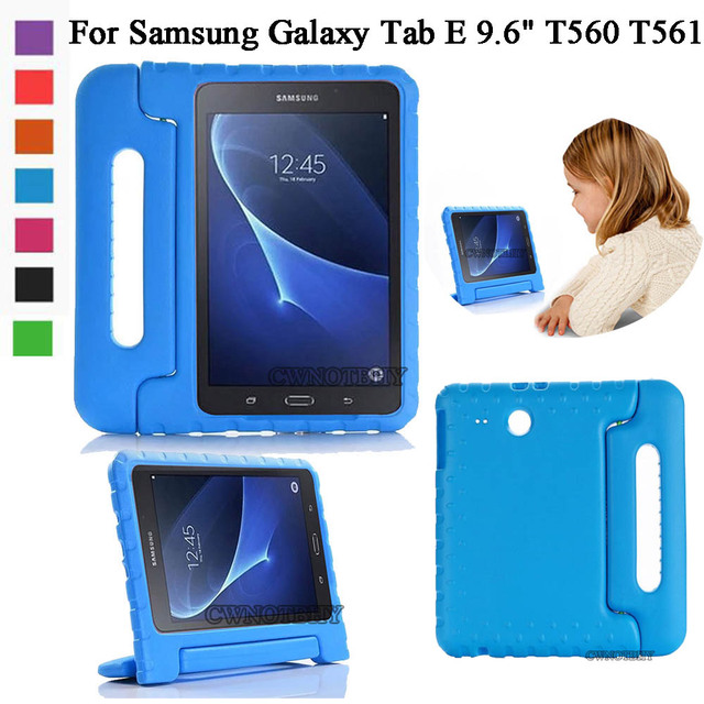 new concept 604ab c1823 US $17.23 | For Samsung galaxy Tab E 9.6 inch T560 T561 Kids Shockproof EVA  Cover Portable Handle Stand Holder Case Full Body Protection-in Tablets &  ...
