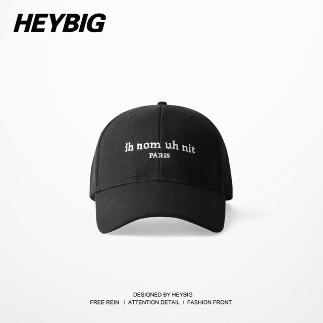 ih nom uh nit Paris Hip-hop baseball cap 2017 HEYBIG ver. Brand Youth Dad caps Curved Brim Hats France chapeau hommes et femmes