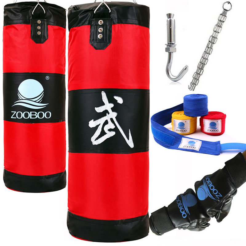 100cm Latihan kecergasan MMA Fighter Boxing Bag Cangkuk Hanging Bag Sukan Sand Punch Punching Bag Sandbag Saco Boxeo